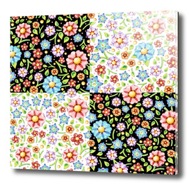 Millefiori Floral Checks