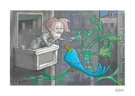 3d Pen (blue bird)