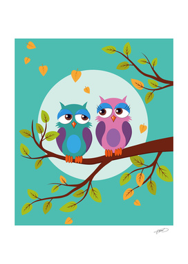Autumn love owls