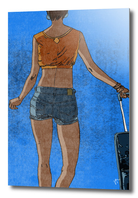 WOMAN-AIRPORT-SUITCASE