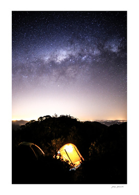 Stargaze Camping Night