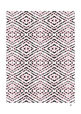 Pink and Black Geometric Stripes
