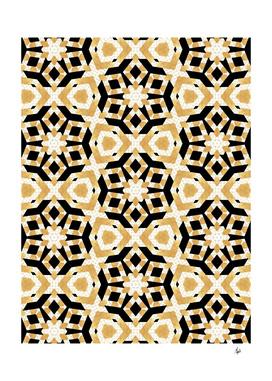 Art Deco Gold Foil Star Pattern II