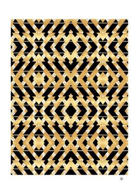 Gold Foil Art Deco Pattern