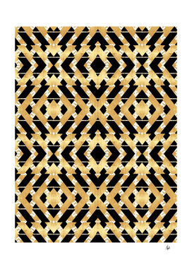 Gold Foil Art Deco Pattern