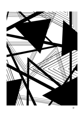 Black and White Geometric Abstract Part II
