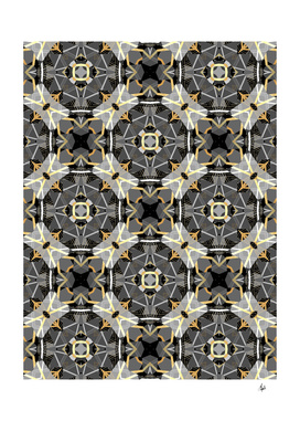 Gray and Gold Abstract III