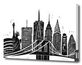 LINOCUT NEW YORK