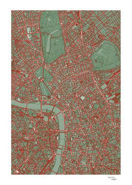 London city map pop