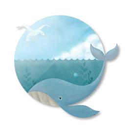 whale & seagull