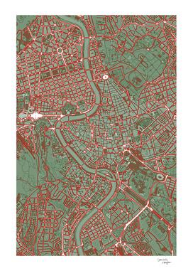 Rome city map pop