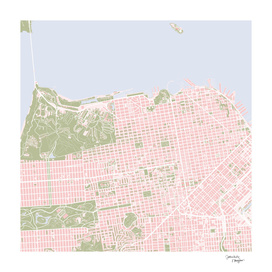 San Francisco city map vintage