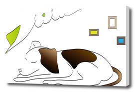 Dog Taking A Nap