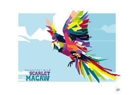Scarlet Macaw (Beautiful Bird)