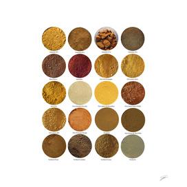 Pigments ocres N°3. Ochres N°3 pigments