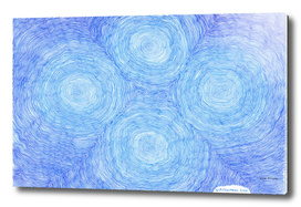Blue ripples, four loci