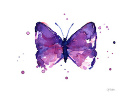 Purple Butterfly Watercolor