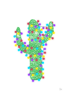 Linocut Festive Cacti