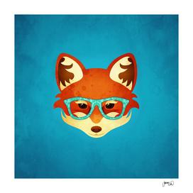 Hipster Fox: Blue
