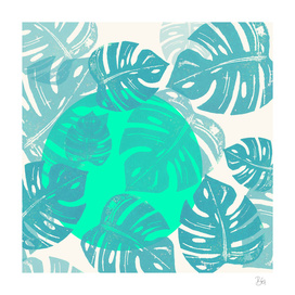 Linocut Monstera Dot