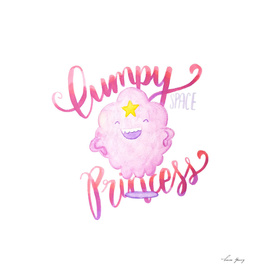 Lumpy Space Princess Lettering