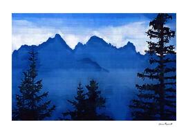 Cool Blue Mountain