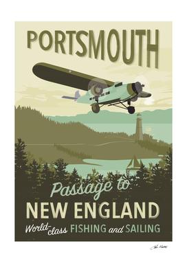 Portsmouth Travel Poster