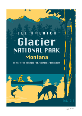 See America – Glacier National Park Montana Travel Poster