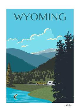 Wyoming Travel Poster
