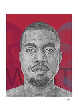 Kanye West illustration portrait