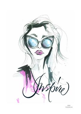 girl on sunglasses