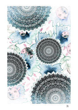 BLOOM MANDALAS IN BLUE
