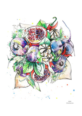 vegetables bouquet
