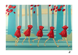 Five Red Riding Hoods I
