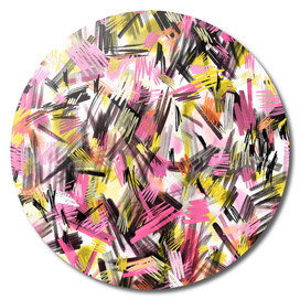 Wild strokes pattern - Pink and yellow