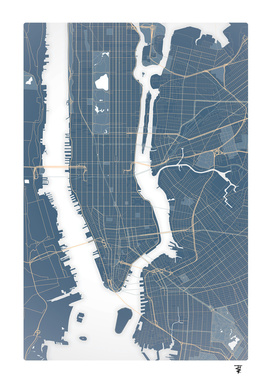 New York City - Detailed Road Map