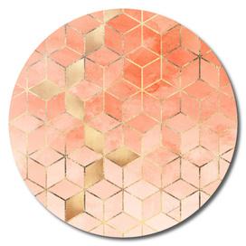 Soft Peach Gradient Cubes