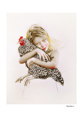 Hen hug