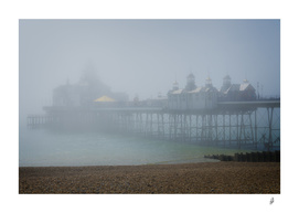 Misty Sunrise At Eastbourne Pier