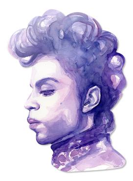 Prince Watercolor Portrait