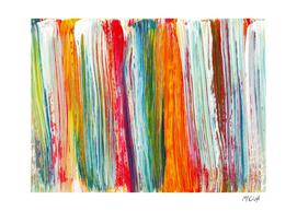 Acrylic abstract rainbow. Multicolor brushstrokes