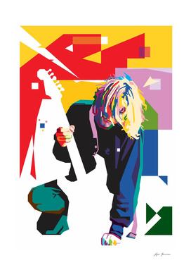 Kurt Cobain in WPAP Art