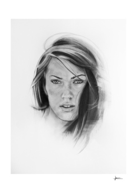Woman Charcoal Portrait