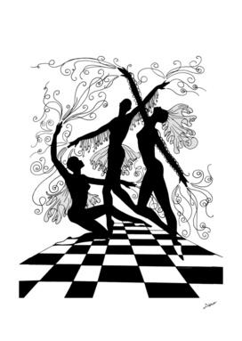 Dancers Souls Surreal Shapes