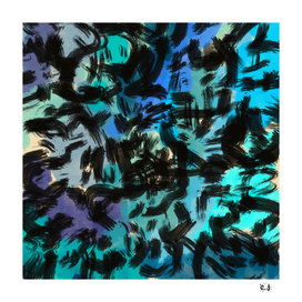 blue and black abstract