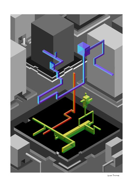 Geometric series 3 (nude)