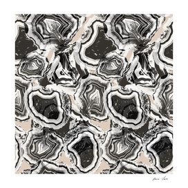 Agate marble black and white