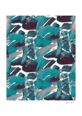 Blue Brushstrokes