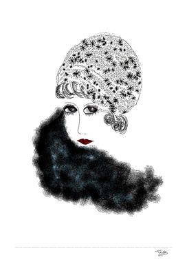 Art Deco Lady With Hat