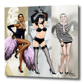 Josephine Baker,Bettie Page and Edie Sedgwick